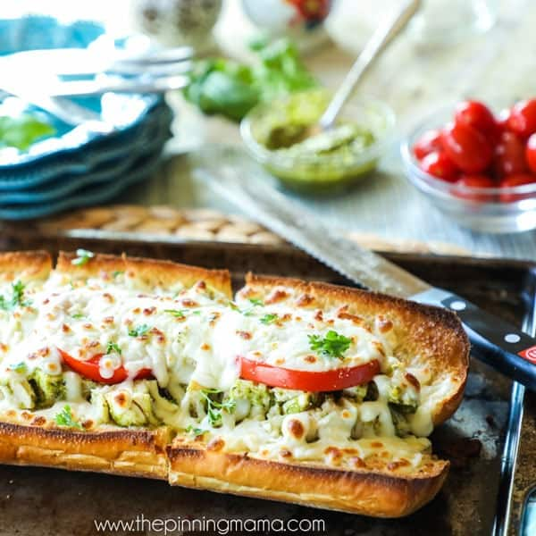 Baked Chicken Caprese Sub recipe out of oven