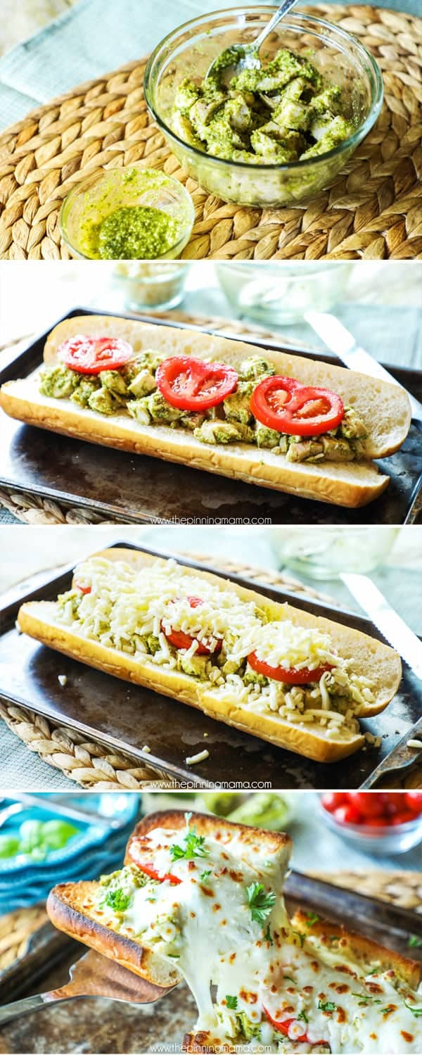 Baked Chicken Caprese Sub recipe step by step
