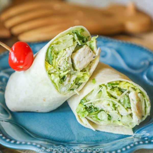 Chicken Caesar Wraps lunch Idea