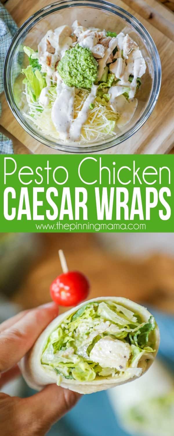 Pesto Chicken Caesar Wraps Recipe