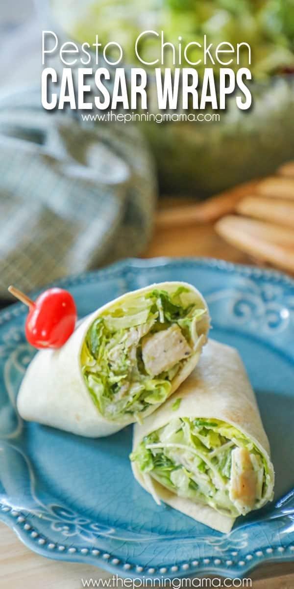Easy Chicken Caesar Wraps Recipe