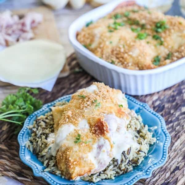 Chicken Cordon Bleu- Oven Baked Dinner