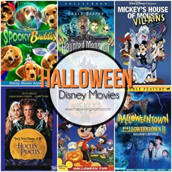 Halloween Disney Movies for the family.