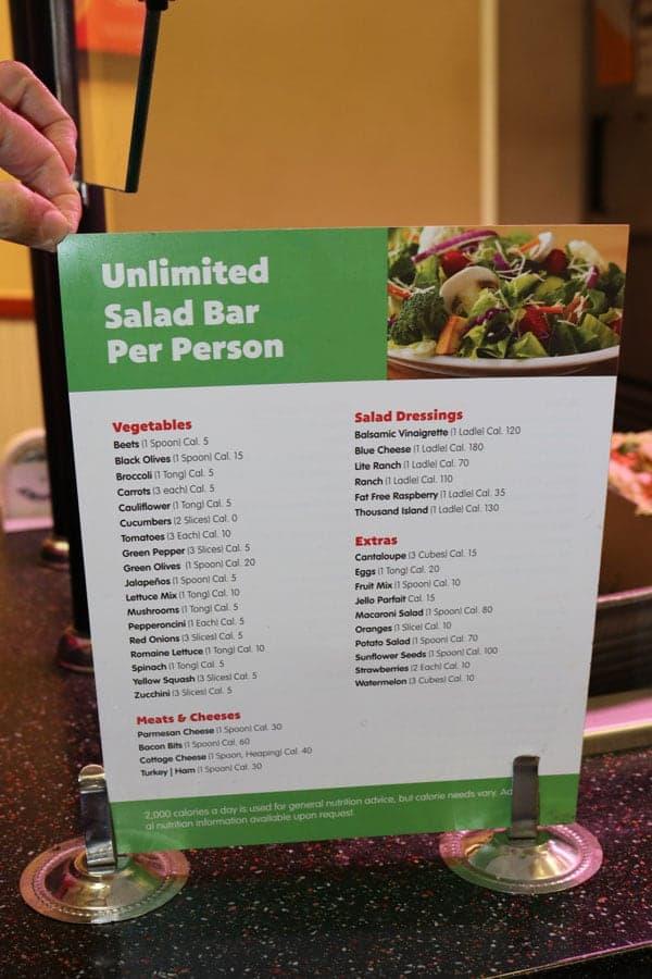 Salad Bar options