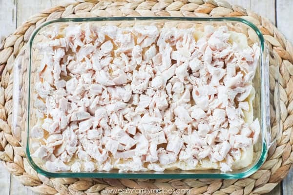 Shredded Chicken Sliders Step 2 - Add the chicken