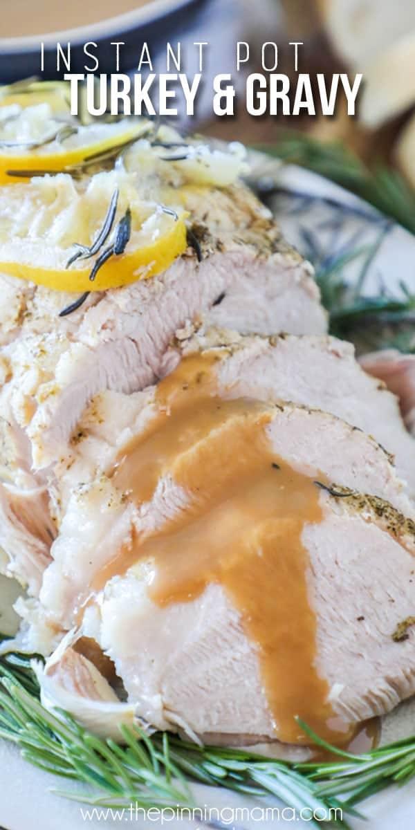 Pressure Cooker Turkey Sliced with Gravy