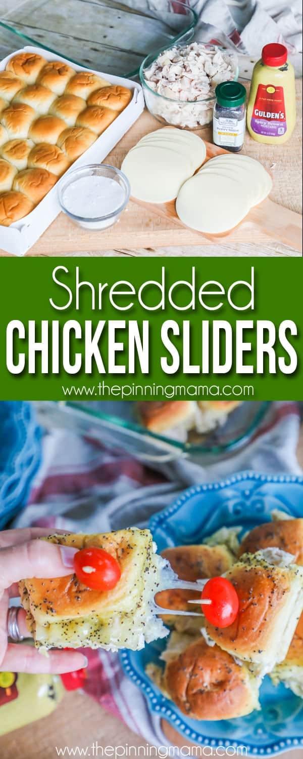 Shredded Chicken Sliders