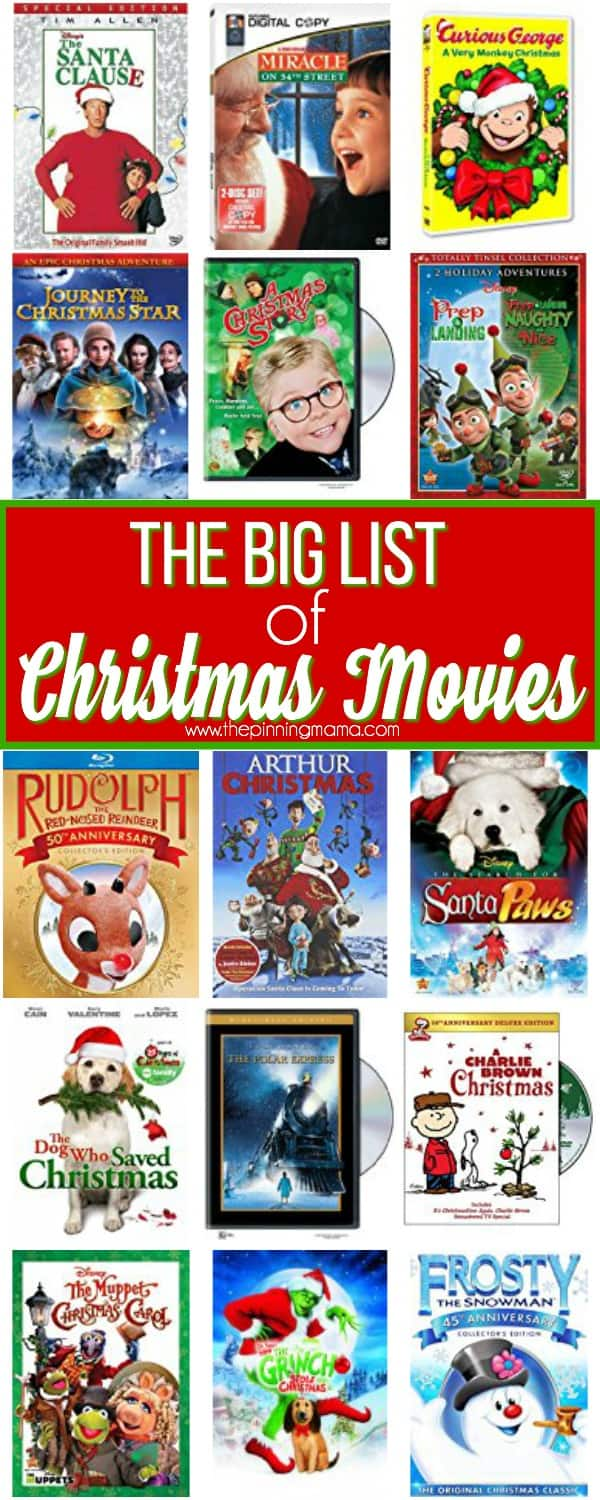 The Big List of Holiday Movies for the Family