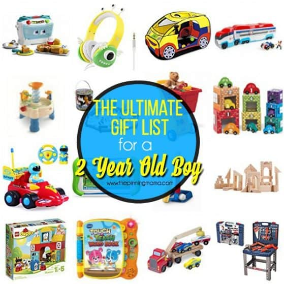 The Ultimate Gift List for your 2 year old boy