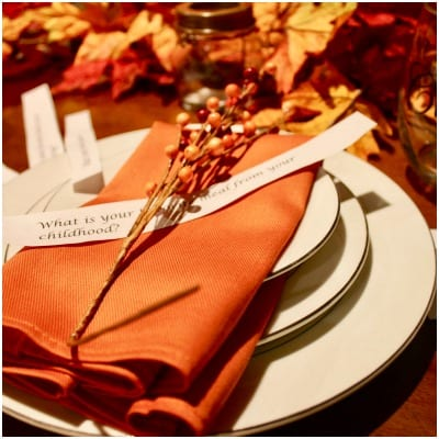 Thanksgiving table conversation starters
