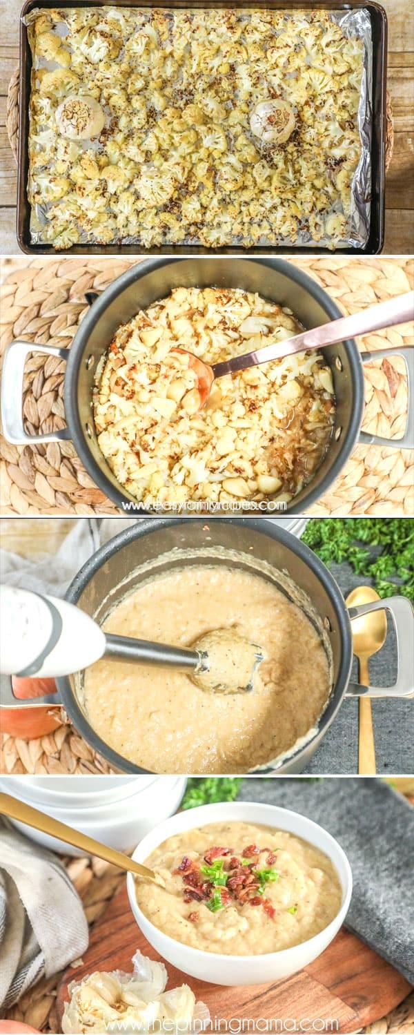 How to make whole30 Cauliflower Soup