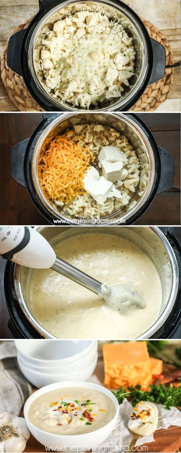How to make Cauliflower Soup in the Instant Pot