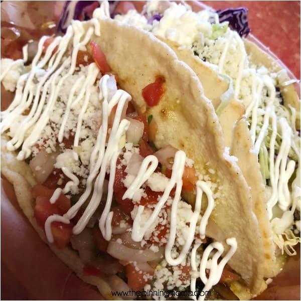 Delicious tacos at Tiki Taco's in Kauai.