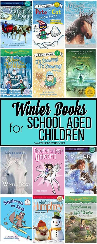 Big List of Winter Books for School Aged Children.