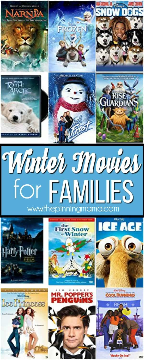 List of Winter Movies for your family.