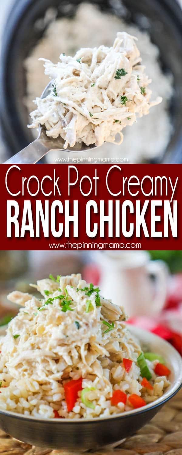 The BEST Crockpot Ranch Chicken!