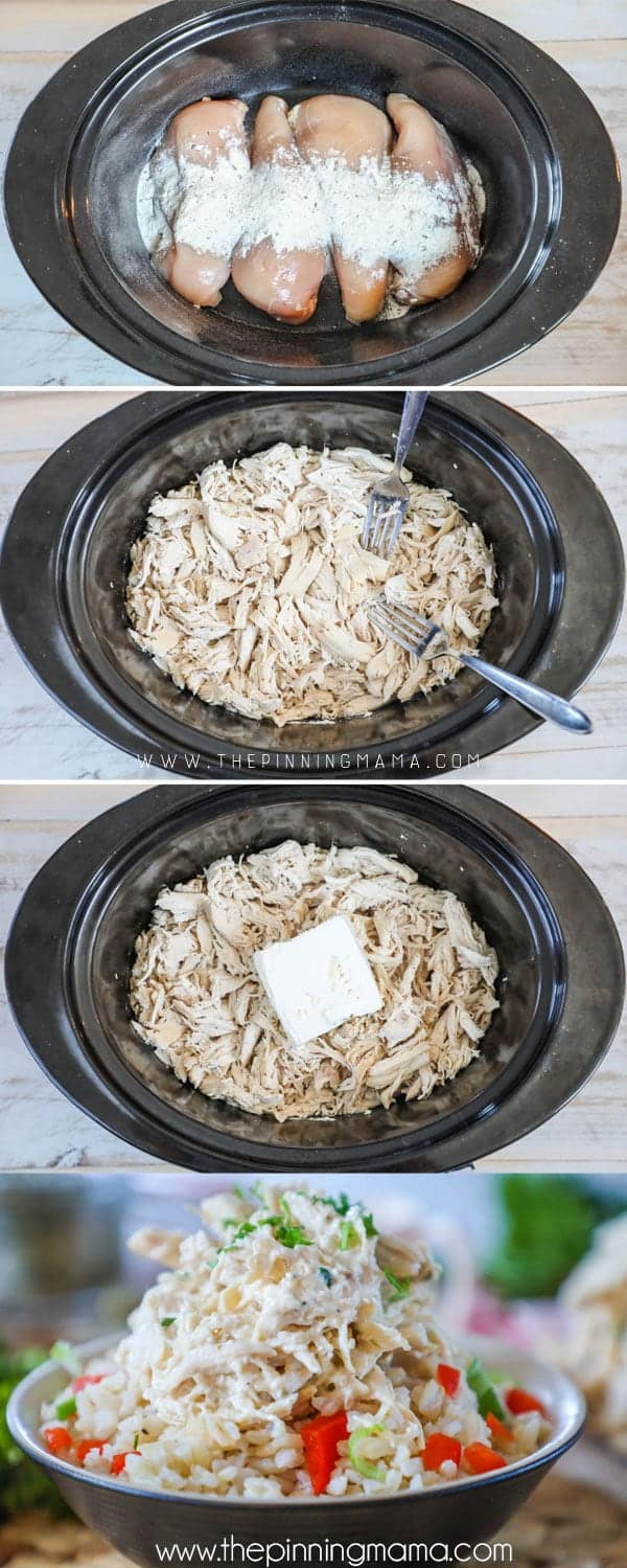 Our FAVORITE! How to make Crock Pot Ranch Chicken.
