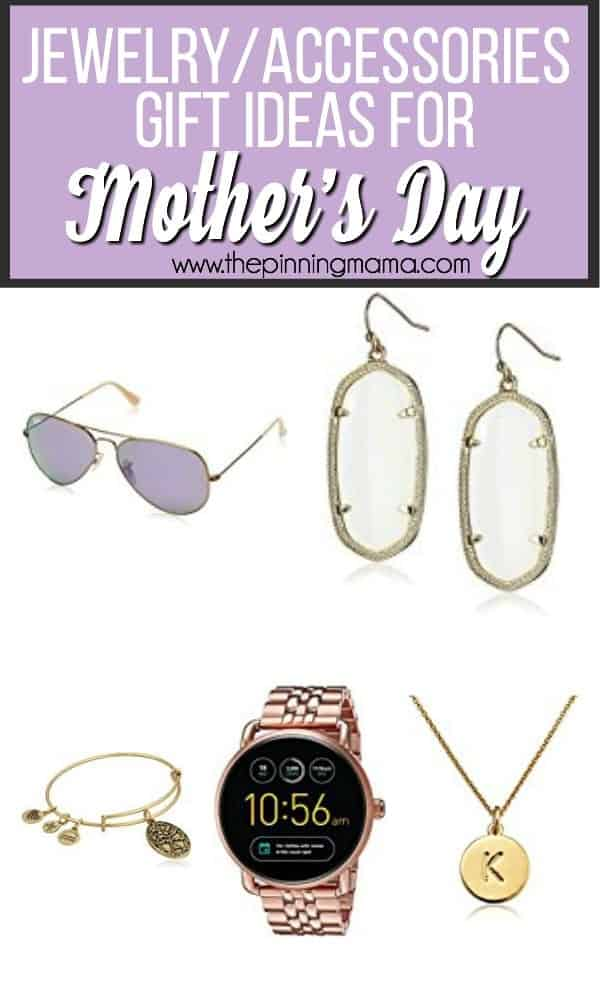 The big list of Jewelry and accessories gift ideas for Mother's Day.