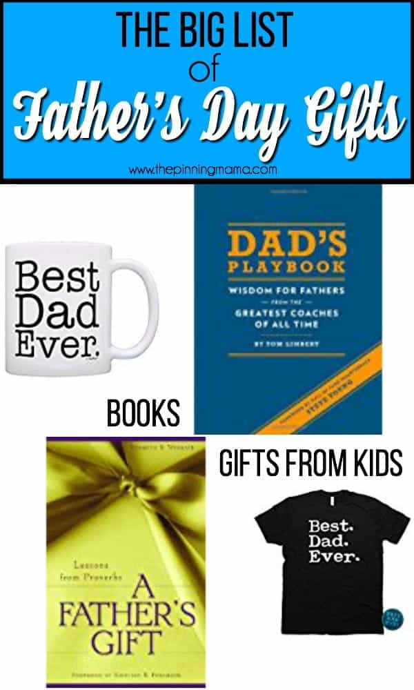 The big list of Father's Day gift Ideas
