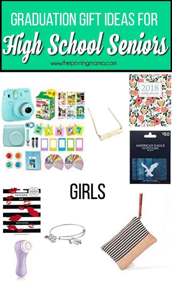 Graduation gift ideas for high school senior girls.