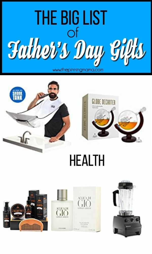 The big list of Gift Ideas for Father's Day.