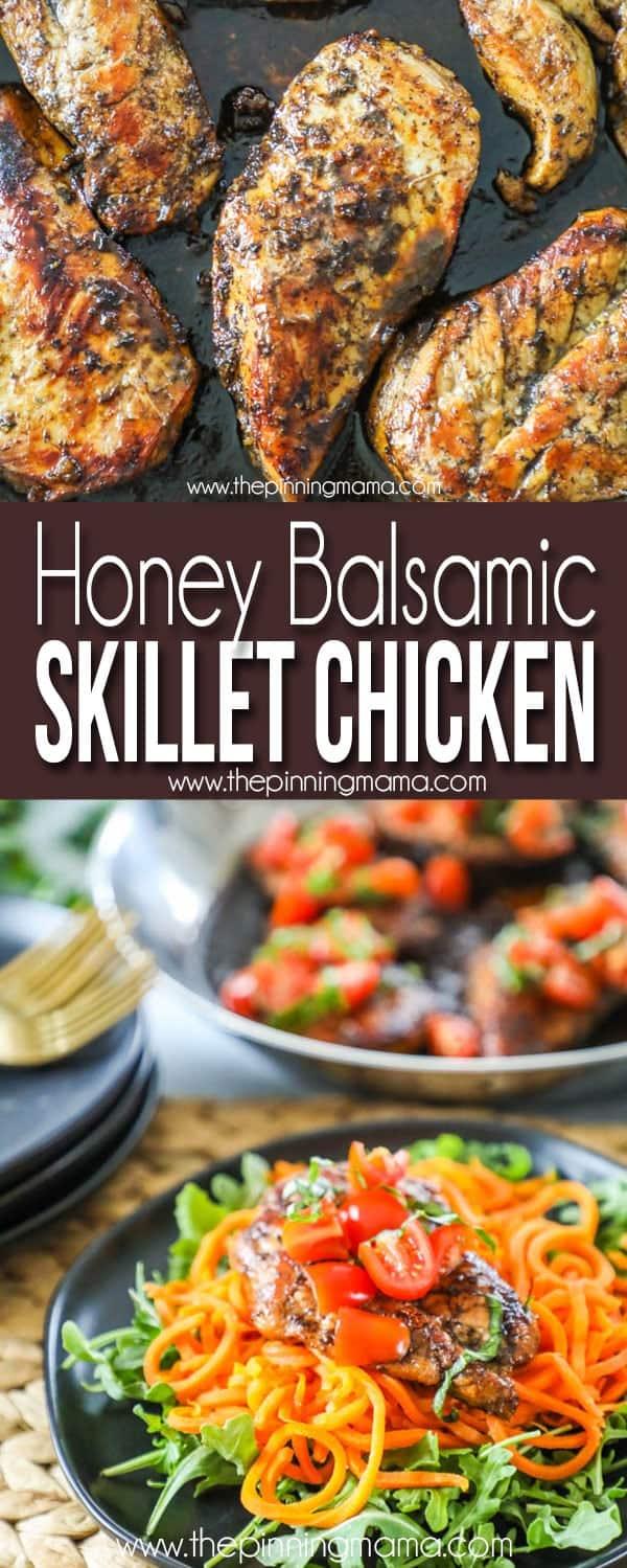 the BEST Honey Balsamic Chicken recipe - Perfect Easy dinner idea!