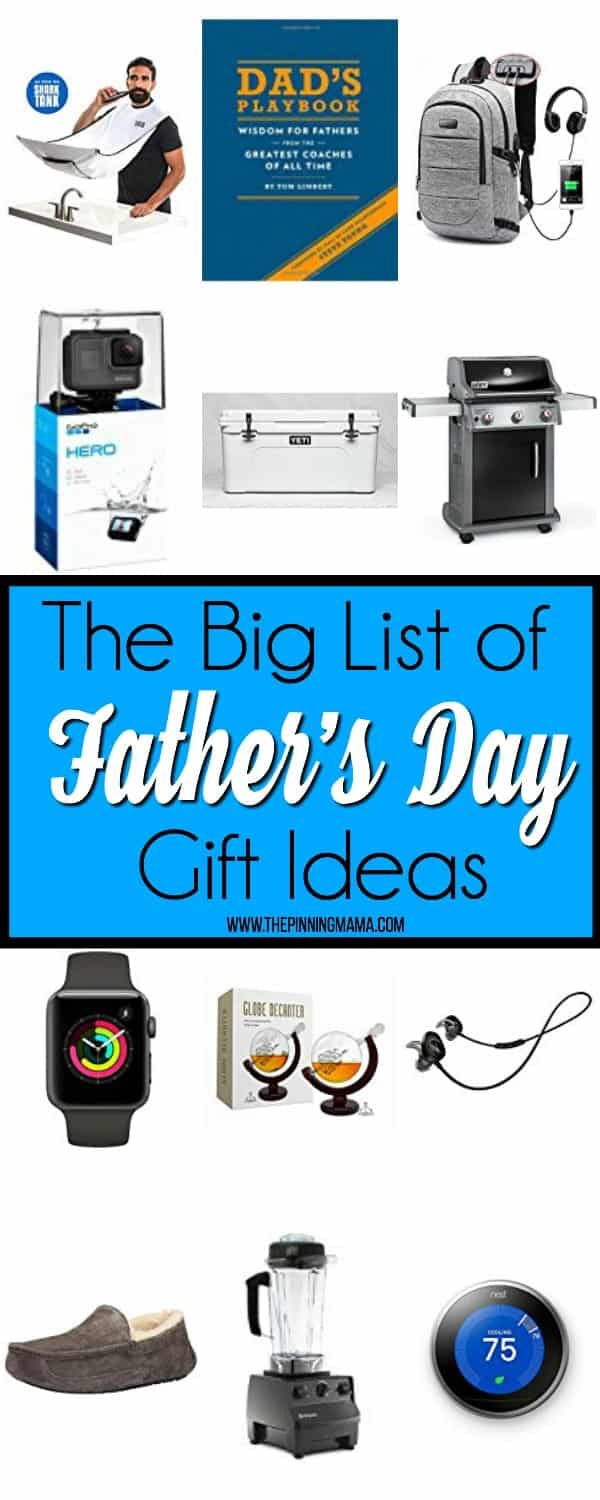 The BIG list of Father's Day Gift ideas.