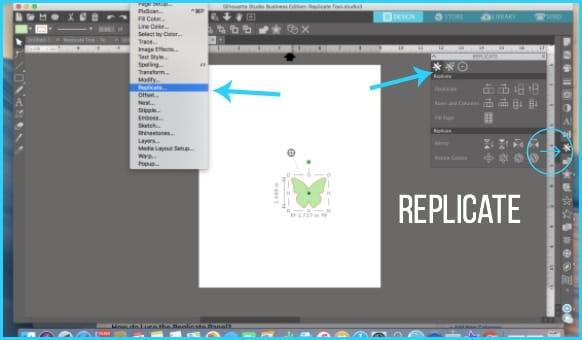 Where to find Replicate in Silhouette Studio