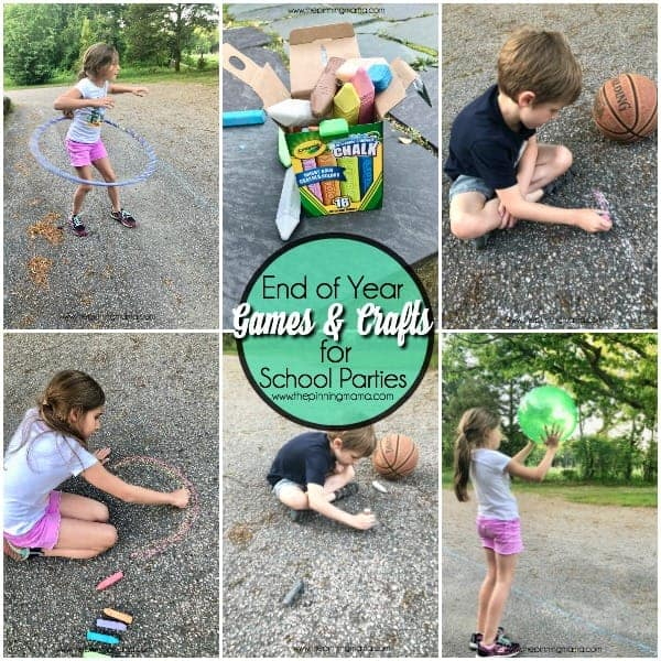 End of year games and craft ideas for school parties.