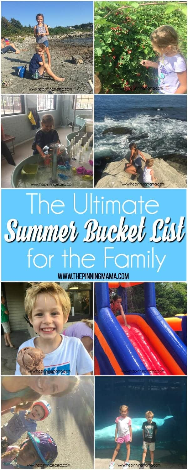 The Ultimate Summer Bucket List for the Family.
