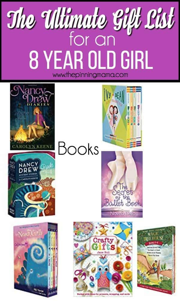 Ultimate gift list for an 8 year old girl, book ideas