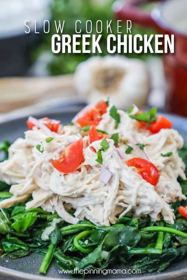 You will not be disappointed with this delicious crockpot greek chicken.