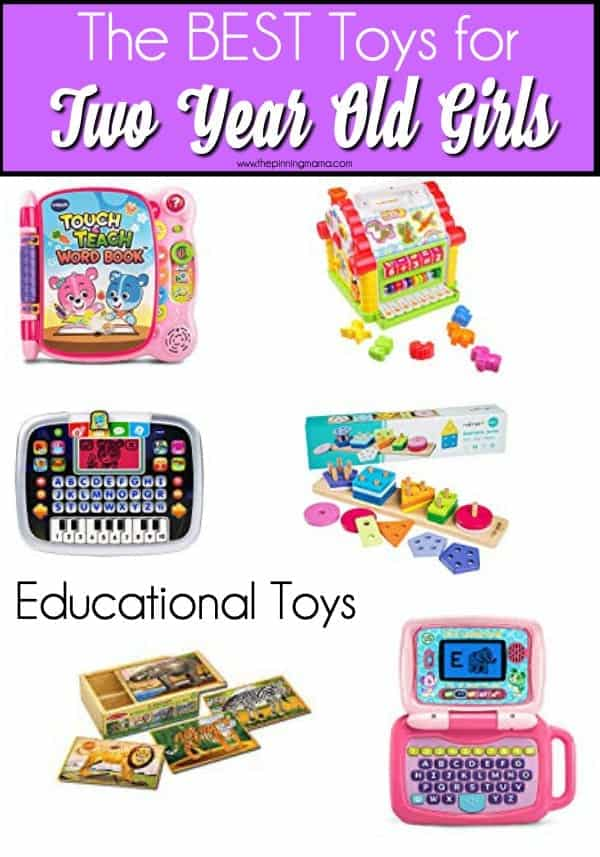 The Big List of Educational Toys for 2 year old girls.