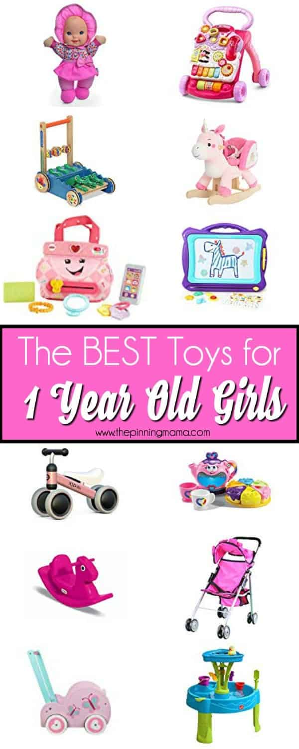 The BIG list of the best toys for one year old girls.