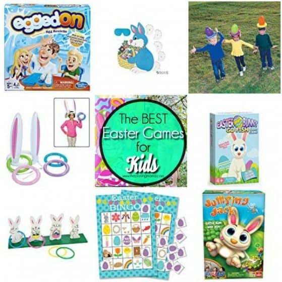 The Big List of the BEST Easter games for kids and families.