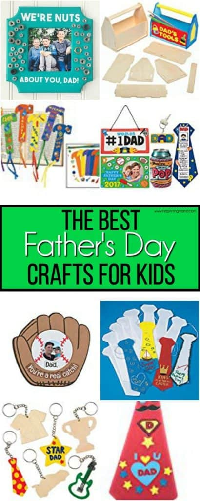 The BIG list of the BEST Mess Free Father's Day Crafts for Kids.