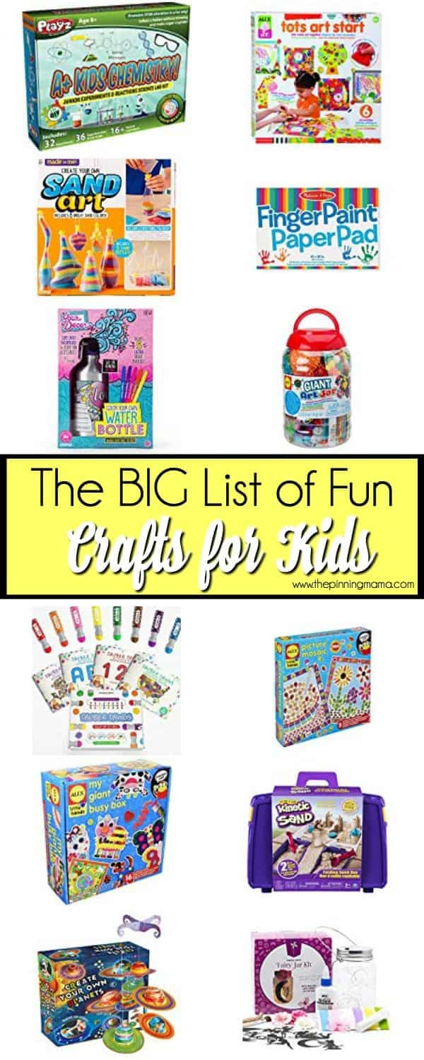 The BIG List of fun crafts for Kids.
