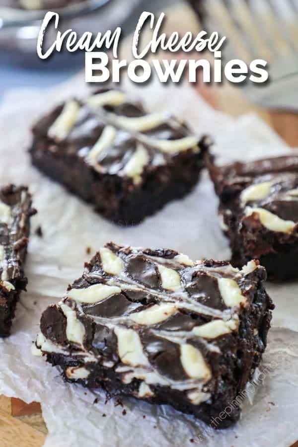 Delicious and easy to make cream cheese swirl brownies.