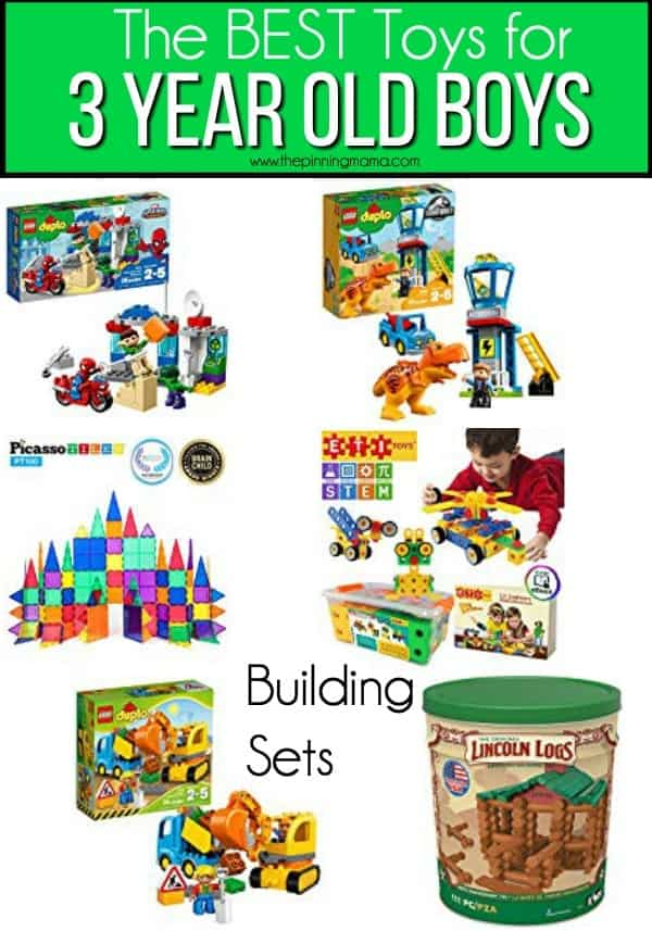 The BEST building sets for 3 year old boys.