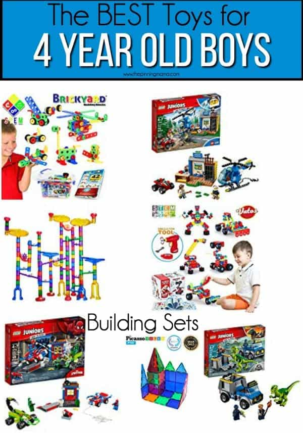 The BEST building set toy ideas for 4 year old boys.