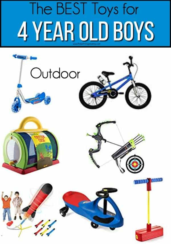 The BEST outdoor toys for 4 year old boys.