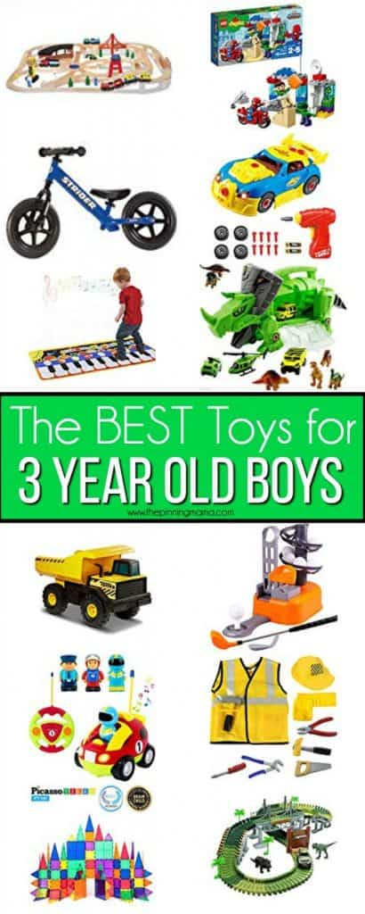 The BIG list of the BEST Toys for 3 year old boys.