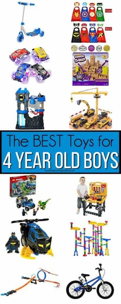 The Big list of the BEST Toys for 4 year old boys.