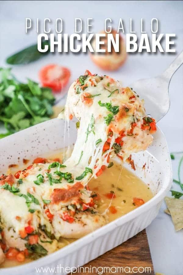 Delicious and quick to make pico de Gallo chicken.