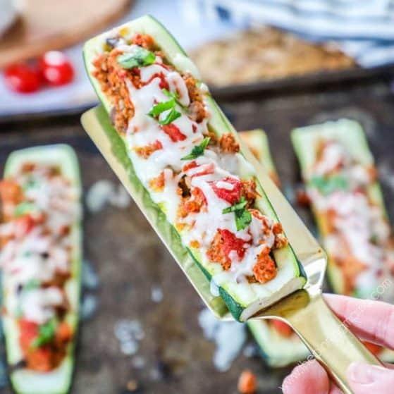 Recipe for Italian Zucchini Boats.