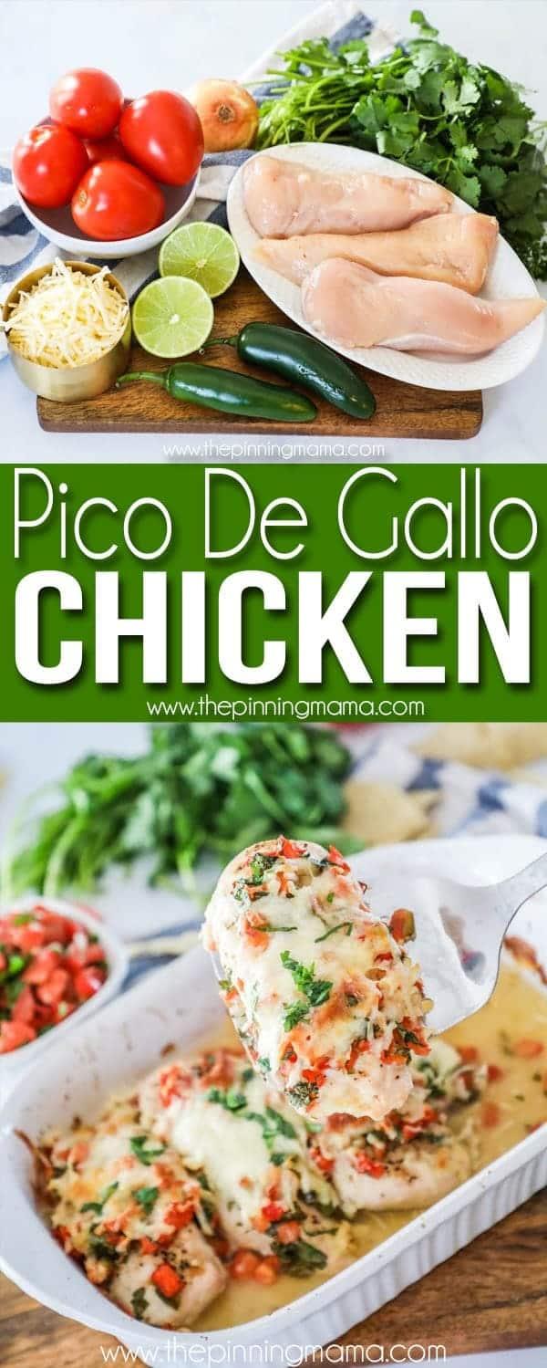 Easy Pico de Gallo chicken is quick and delicious to make.
