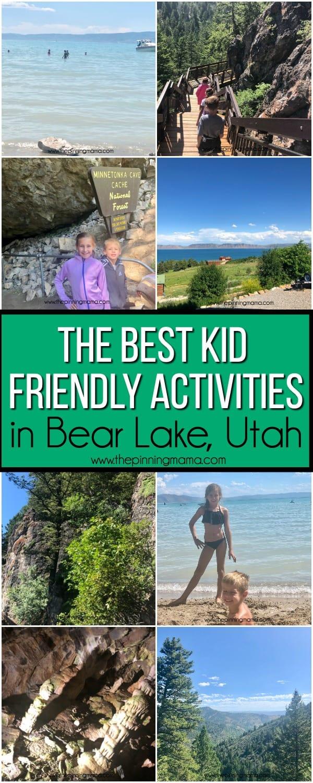 The BEST Kid Friendly Activities in Bear Lake Utah/Idaho.