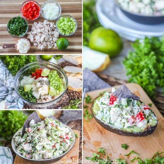 Quick and delicious cilantro lime chicken salad is wholesome and whole30 compliant.