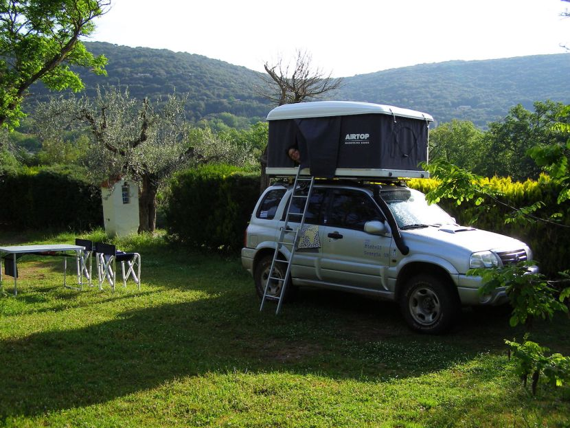The Pin Project - Camping in Siena, Italy