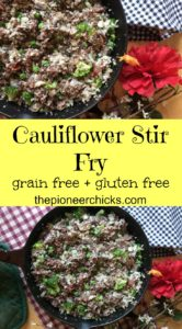 Cauliflower Stir Fry- Packed with nutrition, cauliflower stir fry is the perfect, easy lunch or dinner!